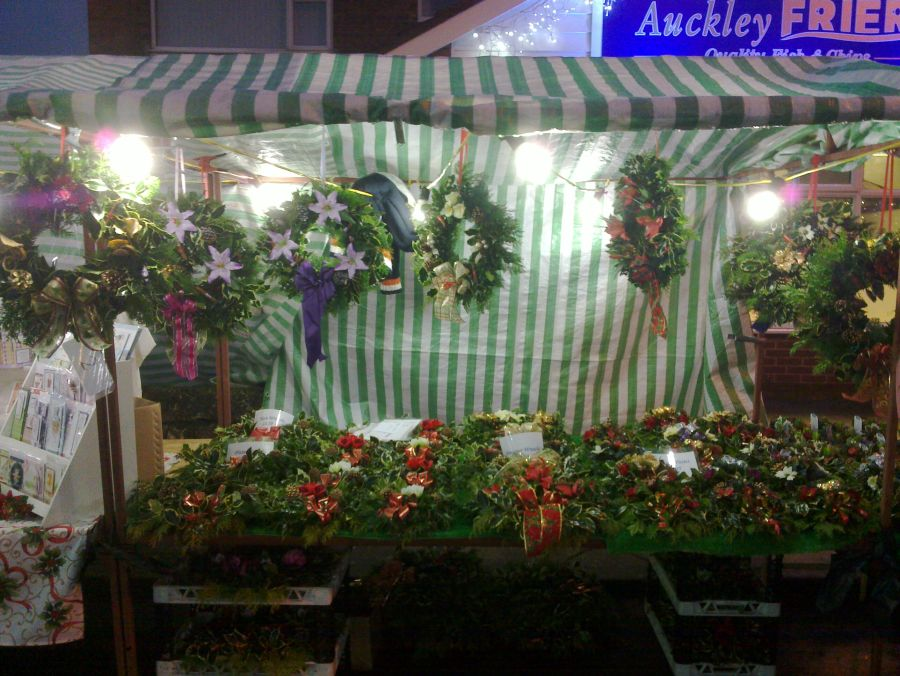 Our stall at an evening xmas fayre