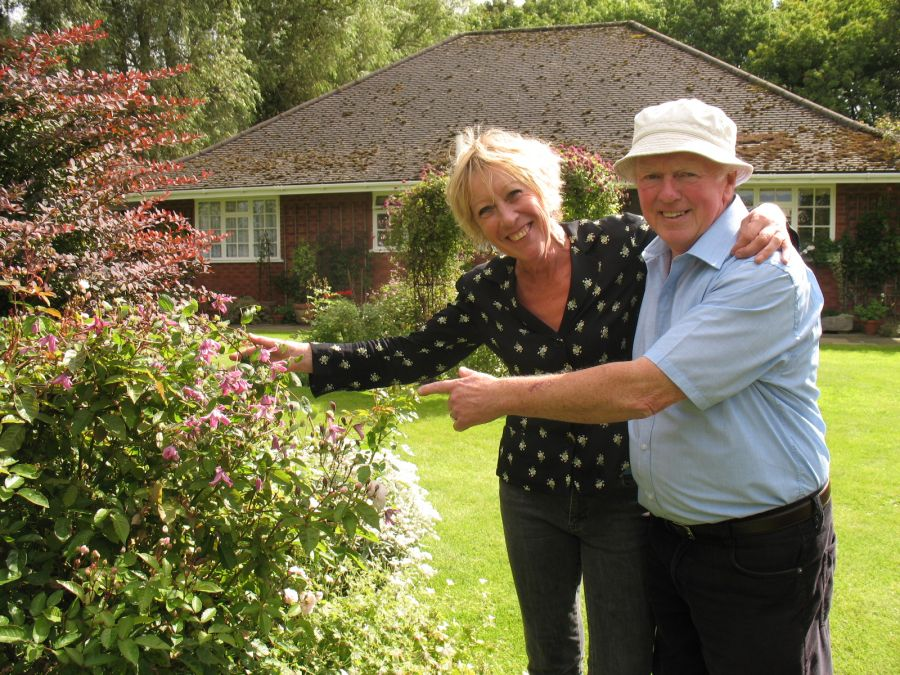 Carol and Richard the breeder with the mature plant