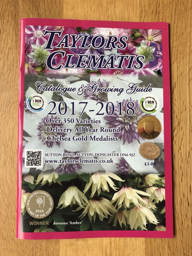Taylors Clematis 2017 /2018 Catalogue