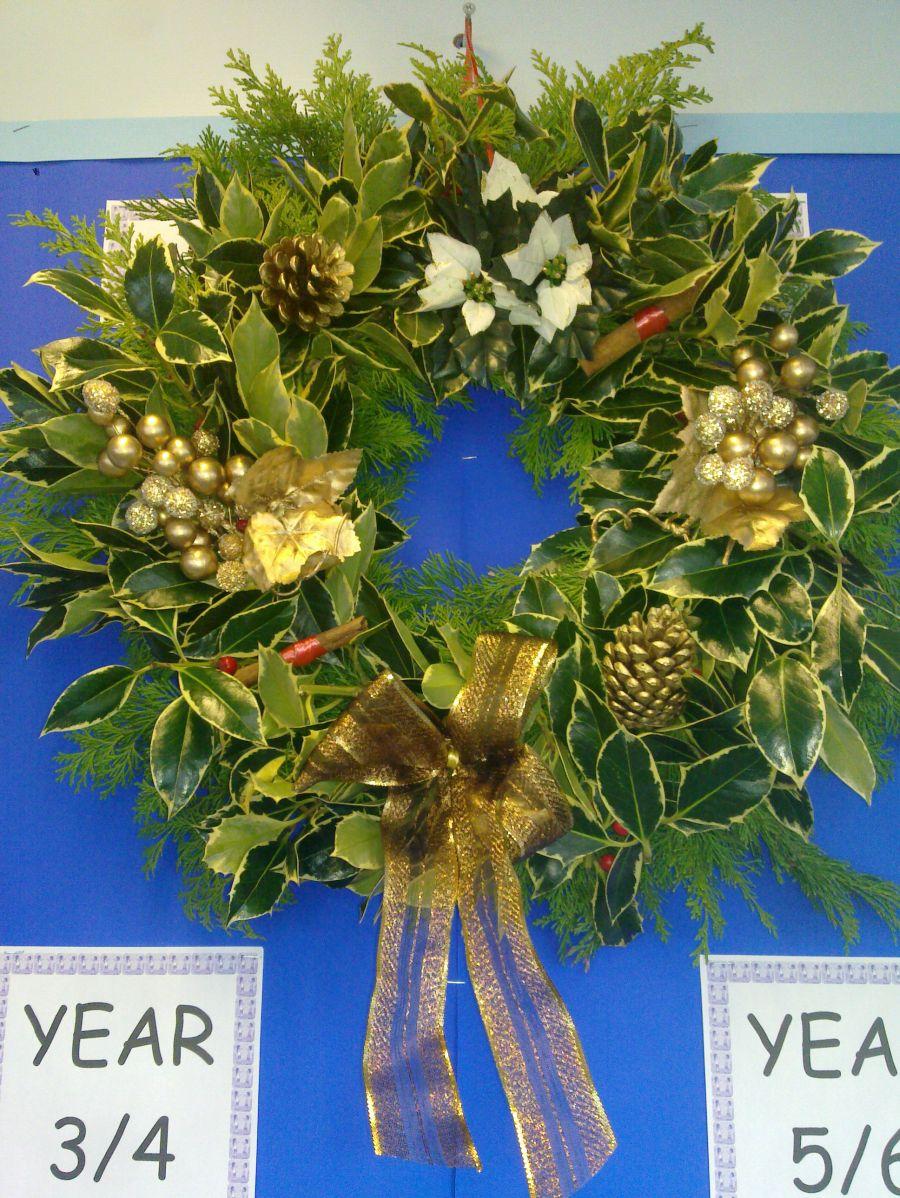 Gold Designer Wreath