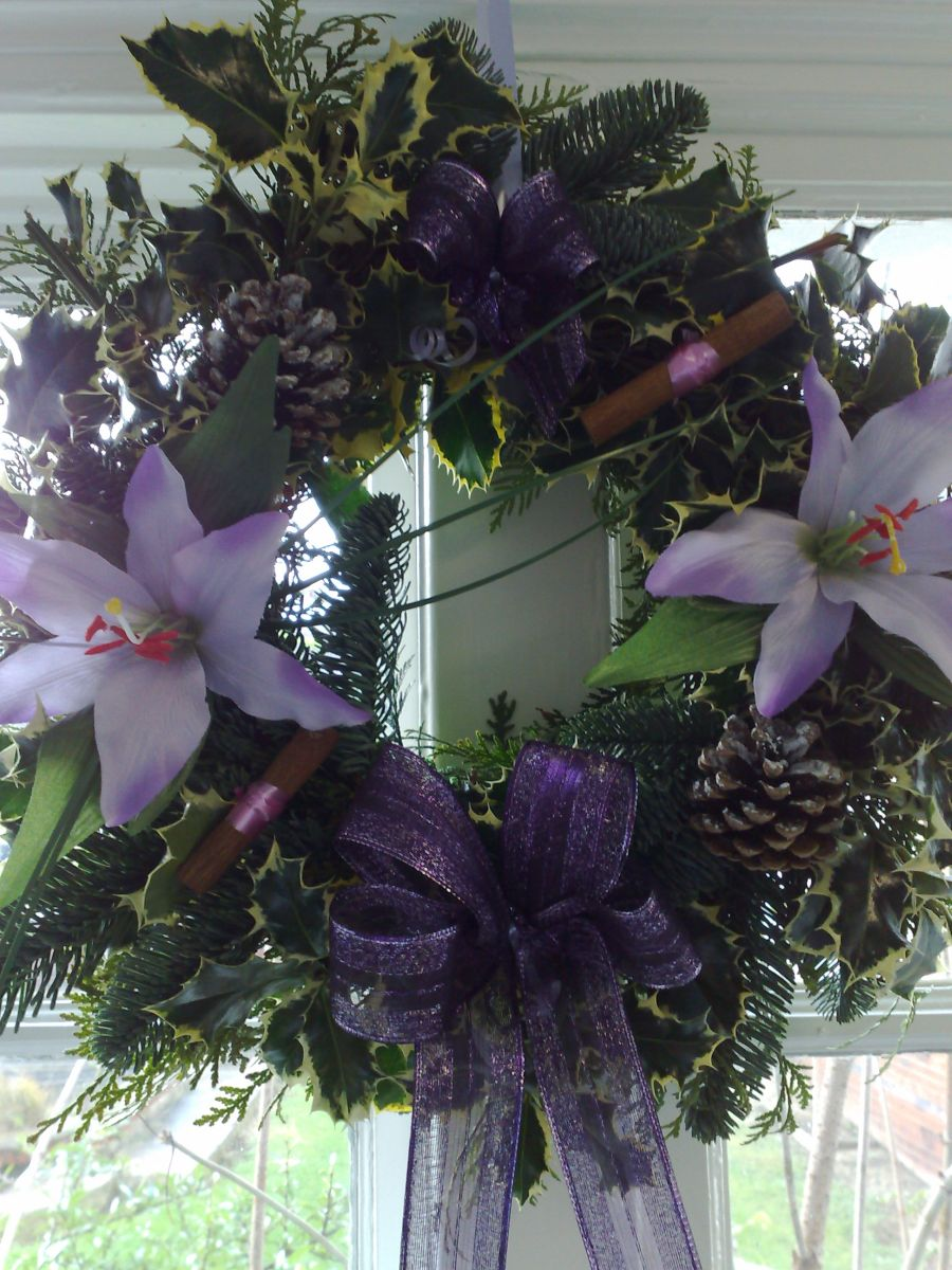lilac/purple wreath