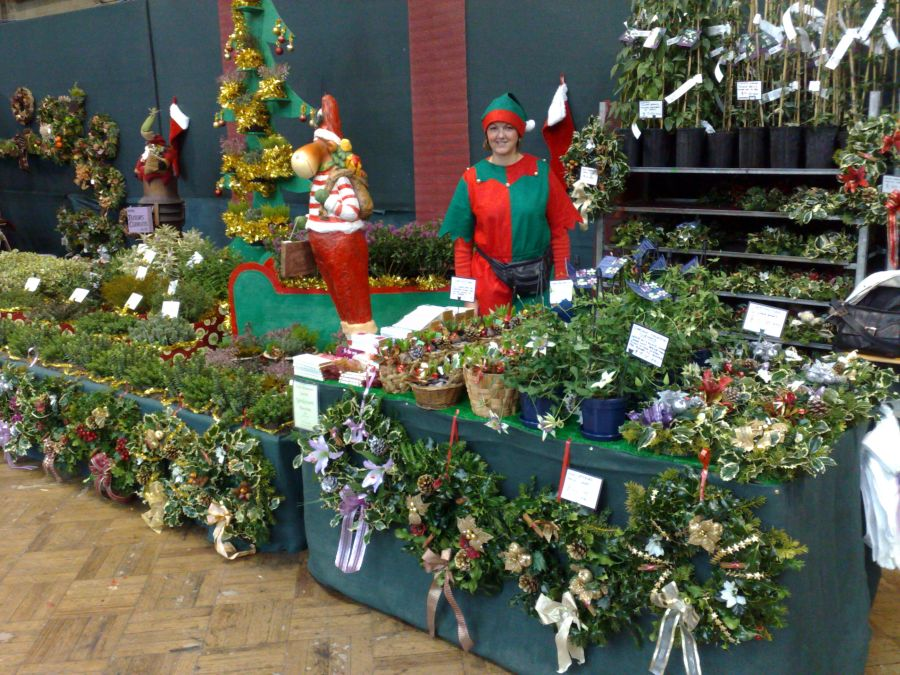 Our Display at the RHS halls in December with wreaths