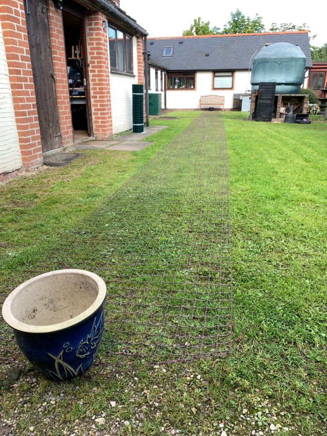 2O METRE ROLL FULLY OUT ON OUR BACK LAWN